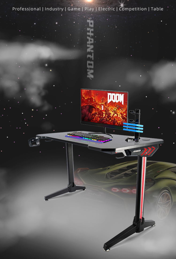 140cm-Gamer-table-with-T-shpe-legs-and-mouse-pad-Model-LY (1)