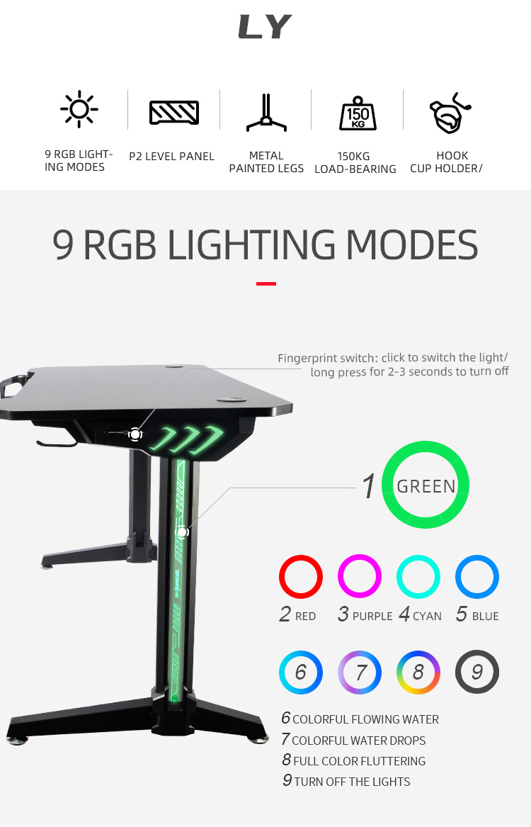 140cm-Gamer-table-with-T-shpe-legs-and-mouse-pad-Model-LY (2)