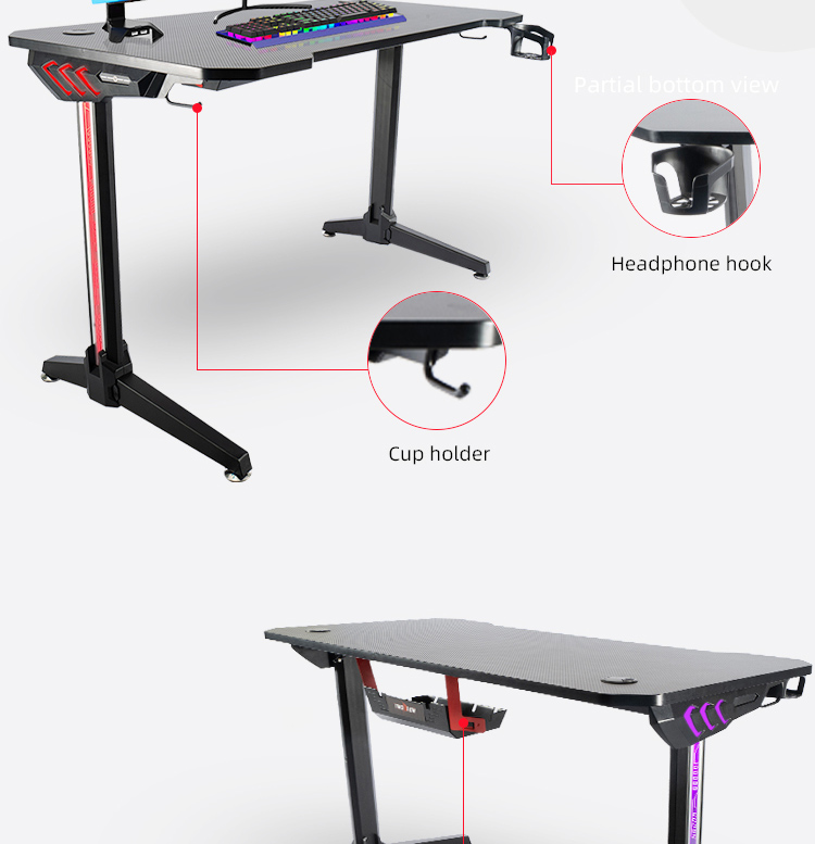 140cm-Gamer-table-with-T-shpe-legs-and-mouse-pad-Model-LY (8)