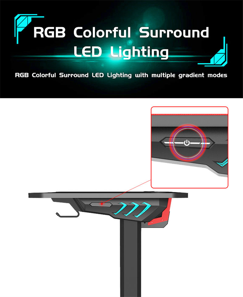 Gaming Desk With RGB Model LY (12)