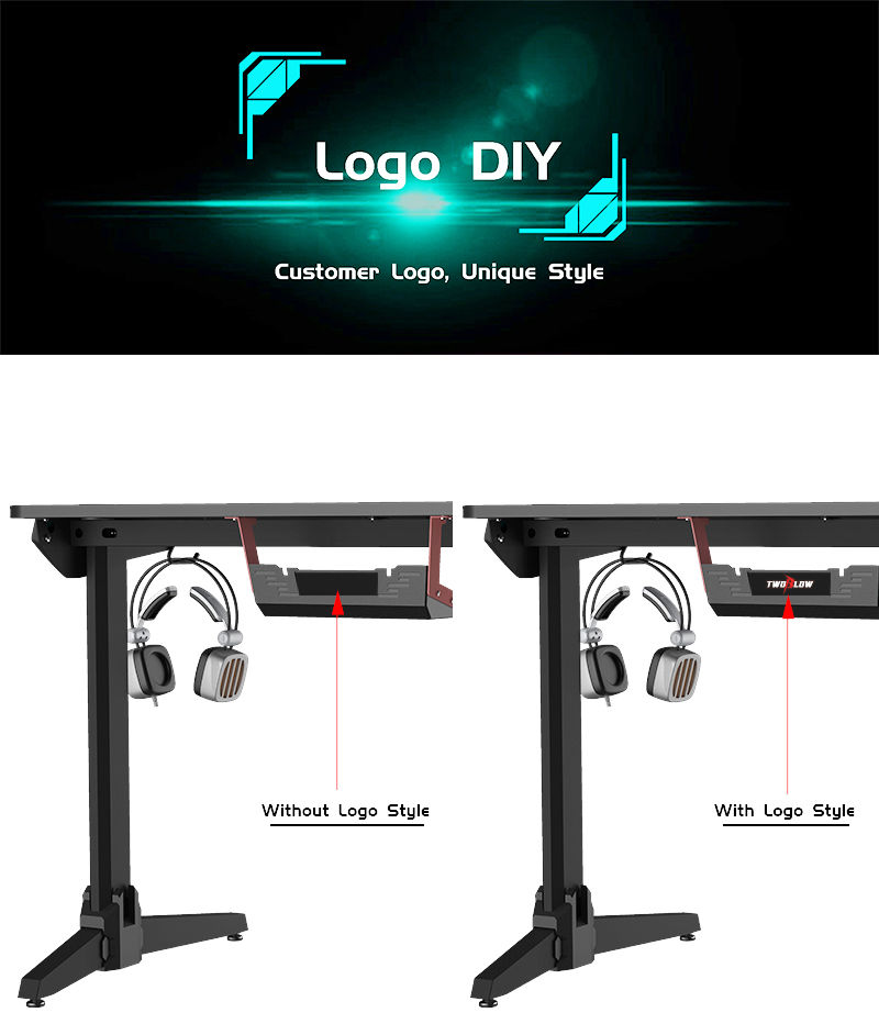 Gaming Desk With RGB Model LY (16)