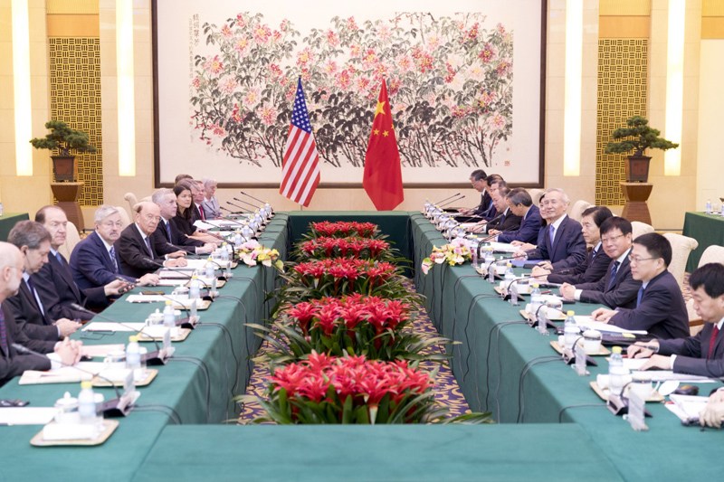 Liu He, member of the political Bureau of the CPC Central Committee and vice premier of the State Council, spoke to Dai Qi, the US trade representative.