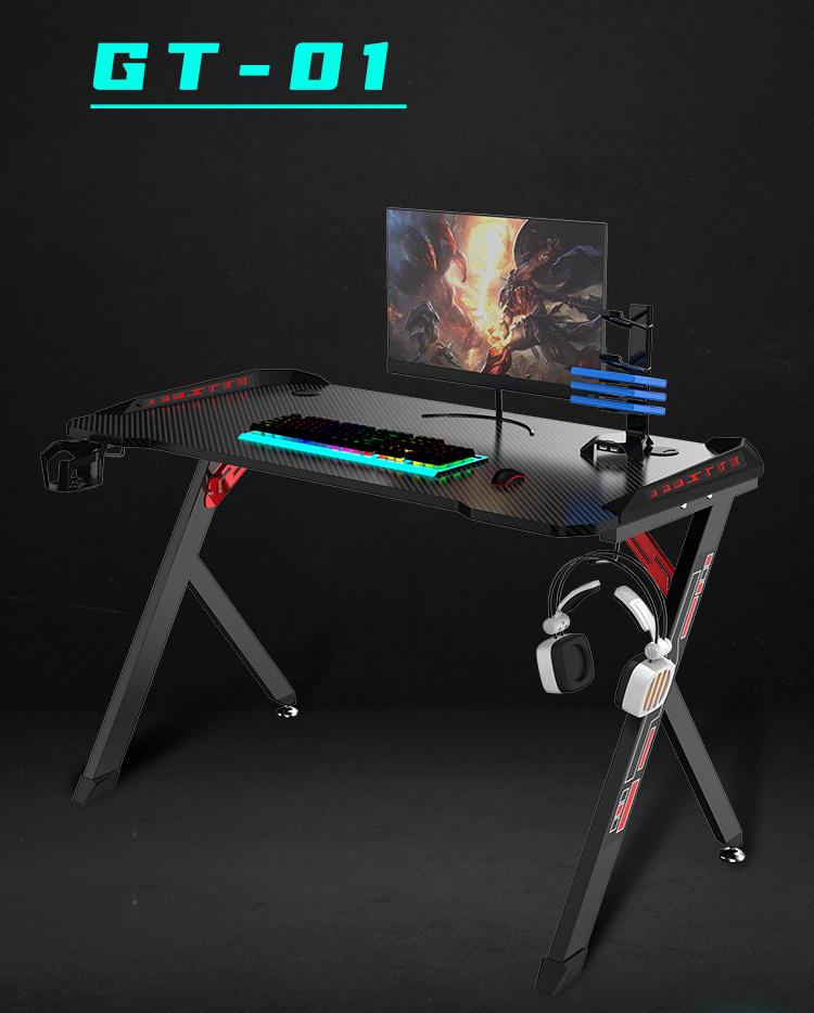 R shape economy gaming desk GT-01 (1)
