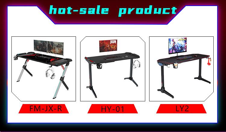 R shape economy gaming desk GT-01 (11)