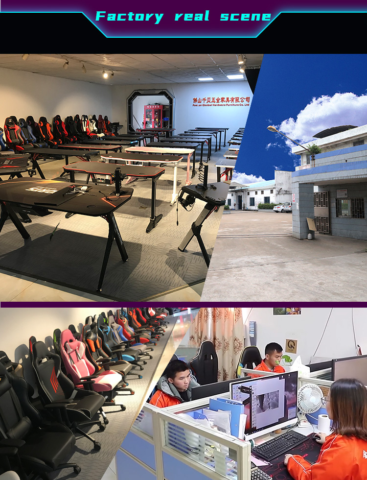 R shape economy gaming desk GT-01 (12)