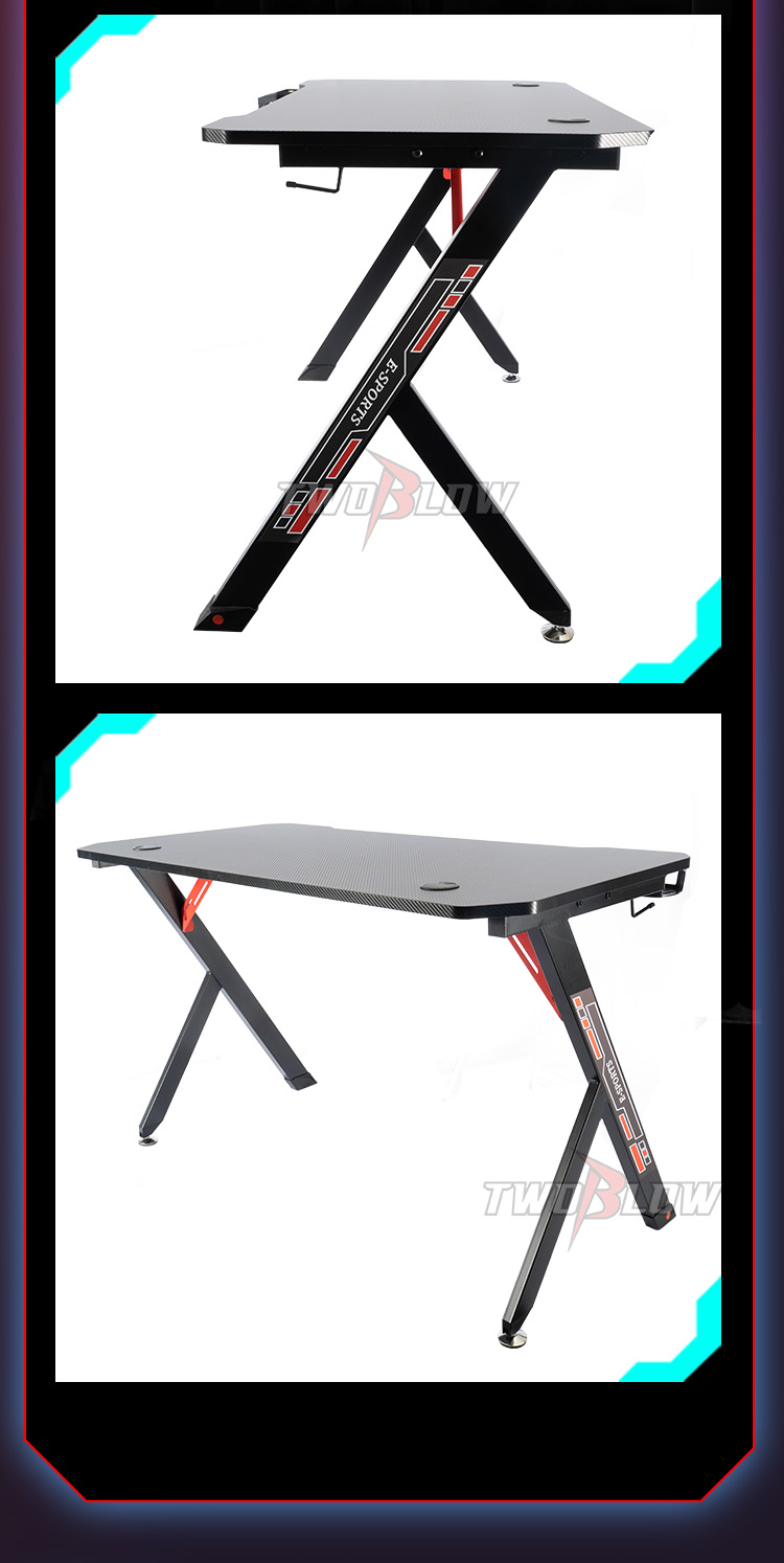 R shape economy gaming desk GT-01 (6)
