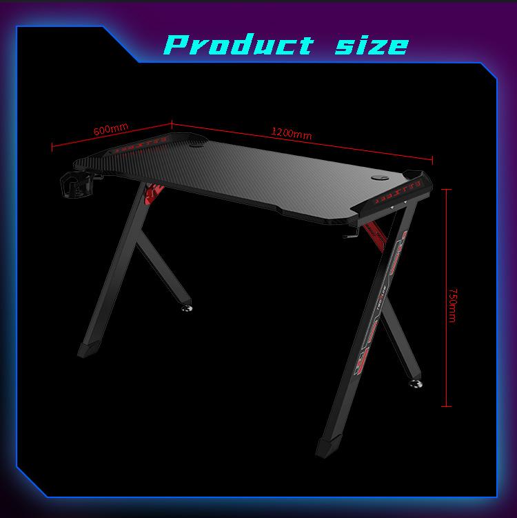 R shape economy gaming desk GT-01 (7)