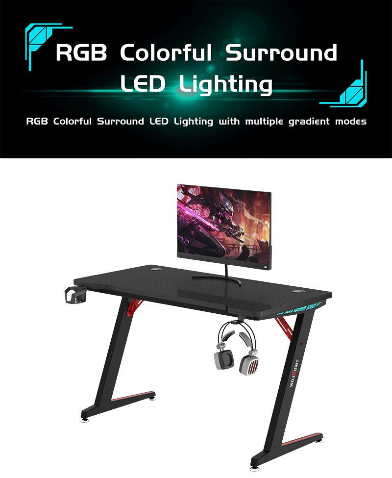 RGB Gamer Desk with remote control model Z-A (2)