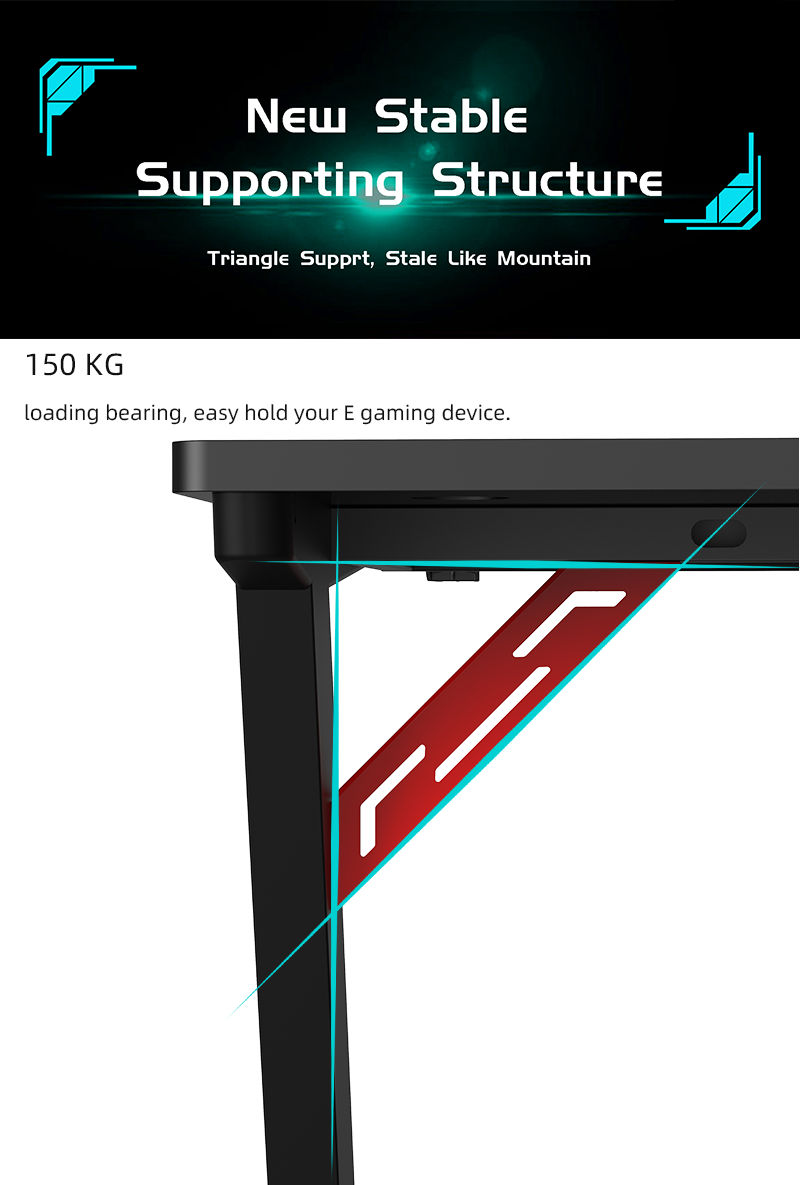 RGB Gamer Desk with remote control model Z-A (6)