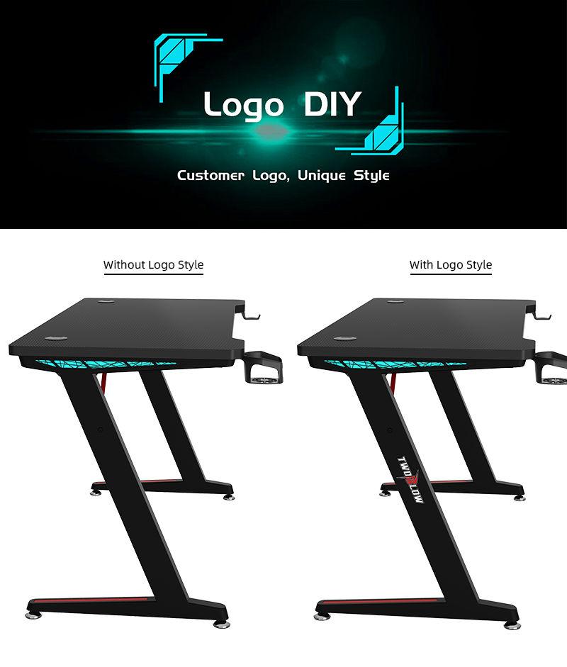 RGB Gamer Desk with remote control model Z-A (7)