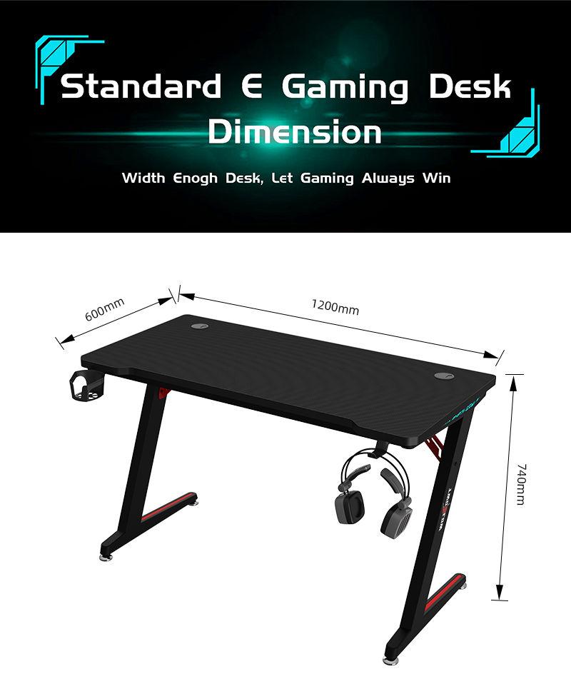 RGB Gamer Desk with remote control model Z-A (8)